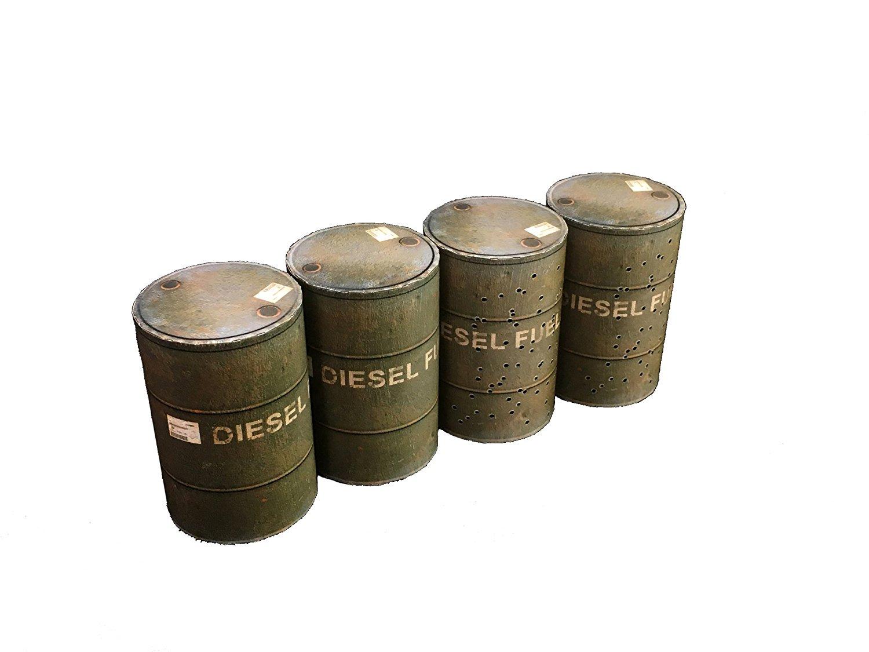 ドラム缶 【オブジェ】 ―斬撃と弾痕のドラム缶―