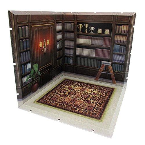【ジオラマ】 書斎 【ねんどろいど】 ―英国式の棚―
